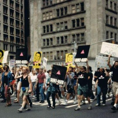 ACT UP Protest