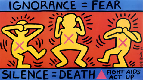 Keith Haring_ignorance=fear
